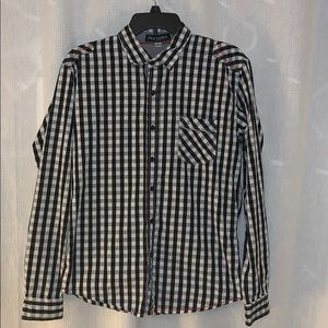 Fred's Marshall checkered flannel shirt